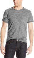 John Varvatos Men's Crewneck Fine Stripe T-shirt, Grey