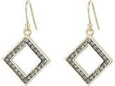Cole Haan Open Diamond Drop Earrings