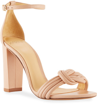 Alexandre Birman Vicky Knot Leather Sandals