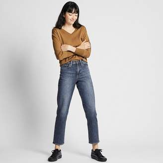 Uniqlo WOMEN High Rise Straight Jeans