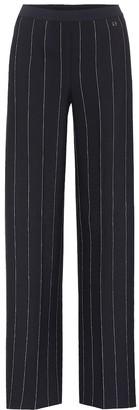 Salvatore Ferragamo Striped crApe wide-leg trousers