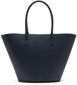 Mansur Gavriel Triangle Calf Leather Tote - Womens - Navy