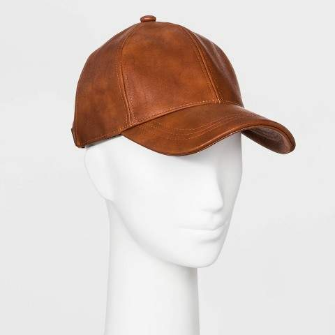 Universal Thread Women's Faux Leather Baseball Hat - Universal ThreadTM Brown