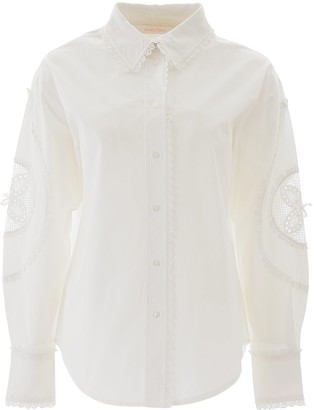 See by Chloe Lace Insert Shirt