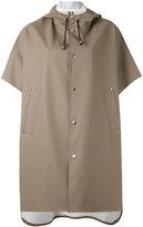 Stutterheim short sleeve raincoat - women - Cotton/Polyester/PVC - XS/S