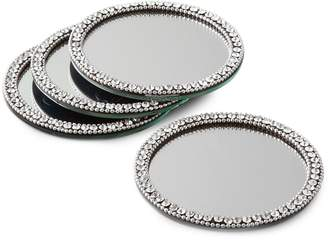 Leeber Elegance Round Mirror 4-Piece Coaster Set