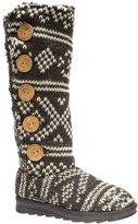Muk Luks Malena Crotchet Women's Button Knit Sweater Boots