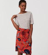 LOFT Petite Primavera Drawstring Pencil Skirt