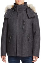 Andrew Marc Fremont Fur Trim Hooded Coat
