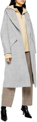 Topshop Effie Brushed Longline Coat