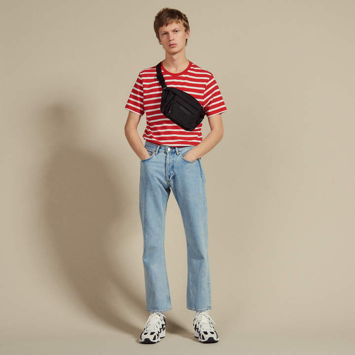 Sandro T-Shirt With Contrasting Stripes