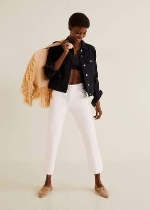 MANGO Pocketed denim jacket black denim - XXS - Women