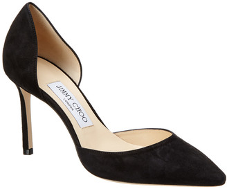 Jimmy Choo Esther 85 Suede D'orsay Pump