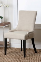 Ivory Kandra Linen Nailhead Dining Chair