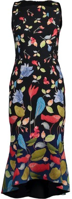 Peter Pilotto Printed Cady Kia Frill Dress