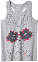 Joe Fresh Kid Girls' Canada Tank, Grey Mix (Size L)