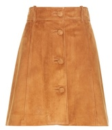 Miu Miu Suede A-line Skirt