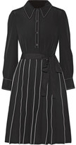 Marc Jacobs Pleated Silk Mini Dress - Black