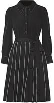 Marc Jacobs Pleated Silk Mini Dress - Black