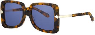 Karen Walker Eden Square Plastic & Metal Sunglasses