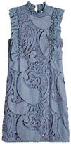 See by Chloe Crochet Embroidered Denim Dress