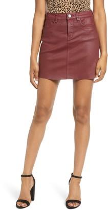 Blanknyc Denim Coated Denim Miniskirt