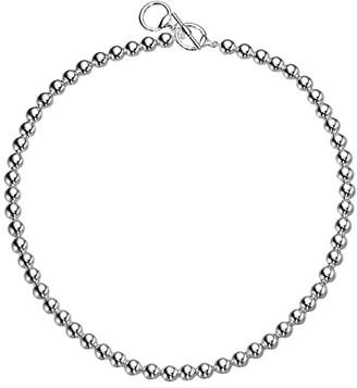 Lauren Ralph Lauren 17 Metal Bead Collar Necklace (Silver) Necklace