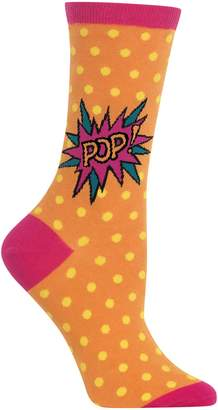 Hot Sox Women's Pop Crew Socks