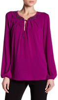 T Tahari Natasha Long Sleeve Blouse