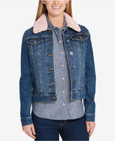 Tommy Hilfiger Faux-Fur Collar Denim Jacket, Created for Macy's