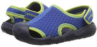Crocs Swiftwater Sandal (Toddler/Little Kid) (Blue Jean/Navy) Kids Shoes