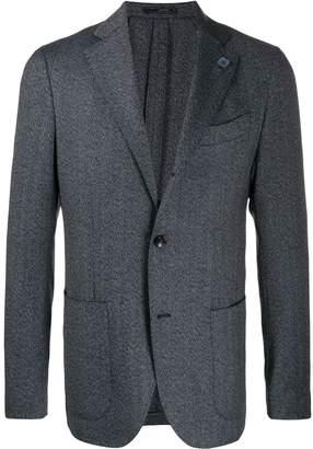 Lardini herringbone single-breasted blazer