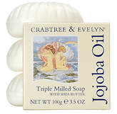 Crabtree & Evelyn Jojoba Oil Triple Milled Soap, 3 x 100g