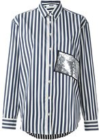 MSGM sequin striped shirt