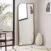 Metal Framed Asymmetrical Floor Mirror - Rose Gold