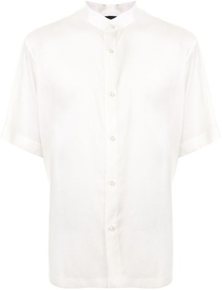 Shanghai Tang Short-Sleeved Mandarin Collar Shirt