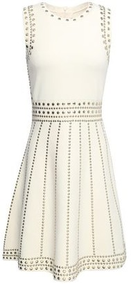 MICHAEL Michael Kors Flared Studded Ponte Mini Dress