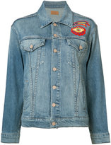 Mother embroidered denim jacket