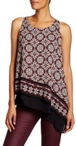 Max Studio Printed Asymmetric Layered Tank