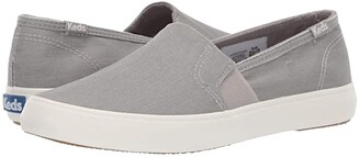 Keds Clipper Wash Twill (Gray) Women's Slip on Shoes