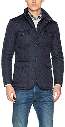 Hackett London Men's Quilted Zip Out Jacket, Blue (595 595), XX-Large