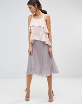 TFNC Pleated Midi Skirt