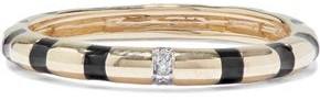 Adina 14-karat Gold, Diamond And Enamel Ring