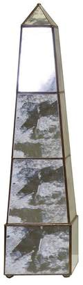 Worlds Away Antique-Style Mirror Obelisk