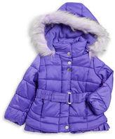 Jessica Simpson Girls 2-6x Faux Fur Trimmed Puffer Coat