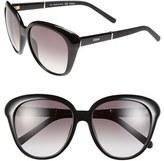 Chloé Women's 55Mm Cat Eye Sunglasses - Black