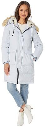 Sam Edelman 3/4 Parka with Patch Pockets (Light Blue) Women's Coat