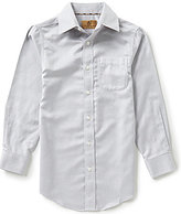Class Club Gold Label Big Boys 8-20 Herringbone Non-Iron Dress Shirt