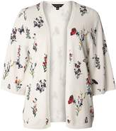 Ivory Floral Print Cardigan