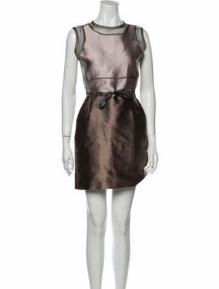 Victoria Beckham Crew Neck Mini Dress